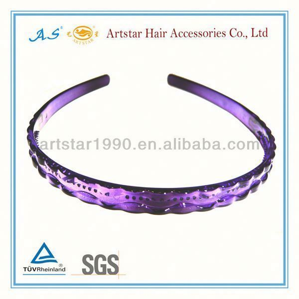 2013 stylish purple hairbands/plastic hair accessory