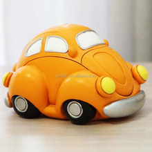 OEM Custom mini car shape 3D cartoon Novelty large plastic Money Jars coin bank for kids