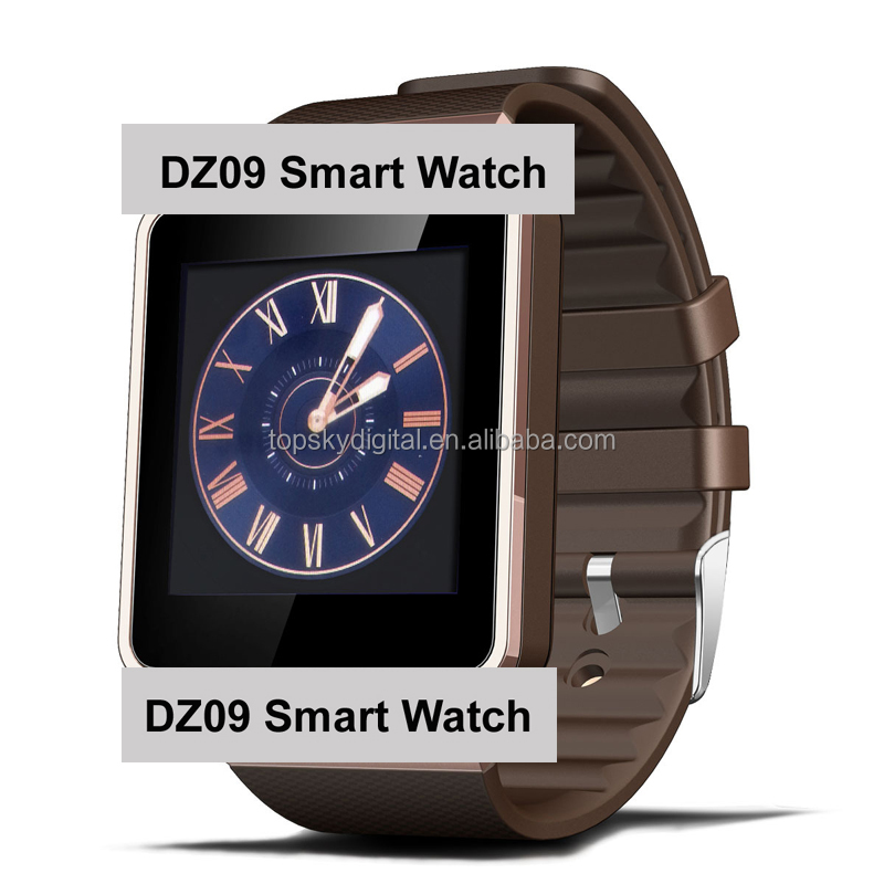 Wearable Devices DZ09 Smart Watch support SIM card, TF card support camera watch phone
