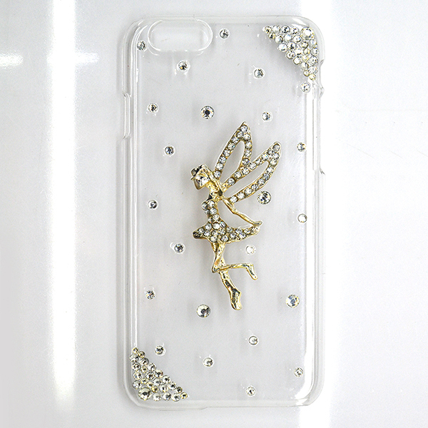 Fashion angel pattren design phone case for iphone 6,ultra thin crystal hard cover for iphone 6 case ---laudtec