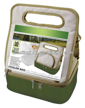 cooler bag with lunch box set