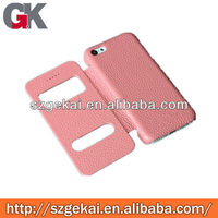 New view case for iphone5c double window with stand