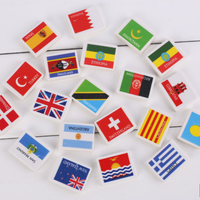 Flag Erasers - 48 per set