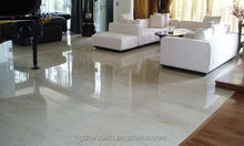 Cream Travertine Vein Cut Tiles Slabs, Beige Polished Travertine Floor Covering Tiles