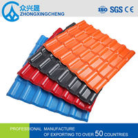 Color stable asa synthetic resin roof tile for sale corrugated metal roofing
