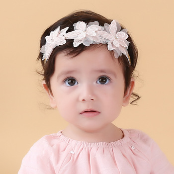 MS70040W Super popular baby lace design hair band