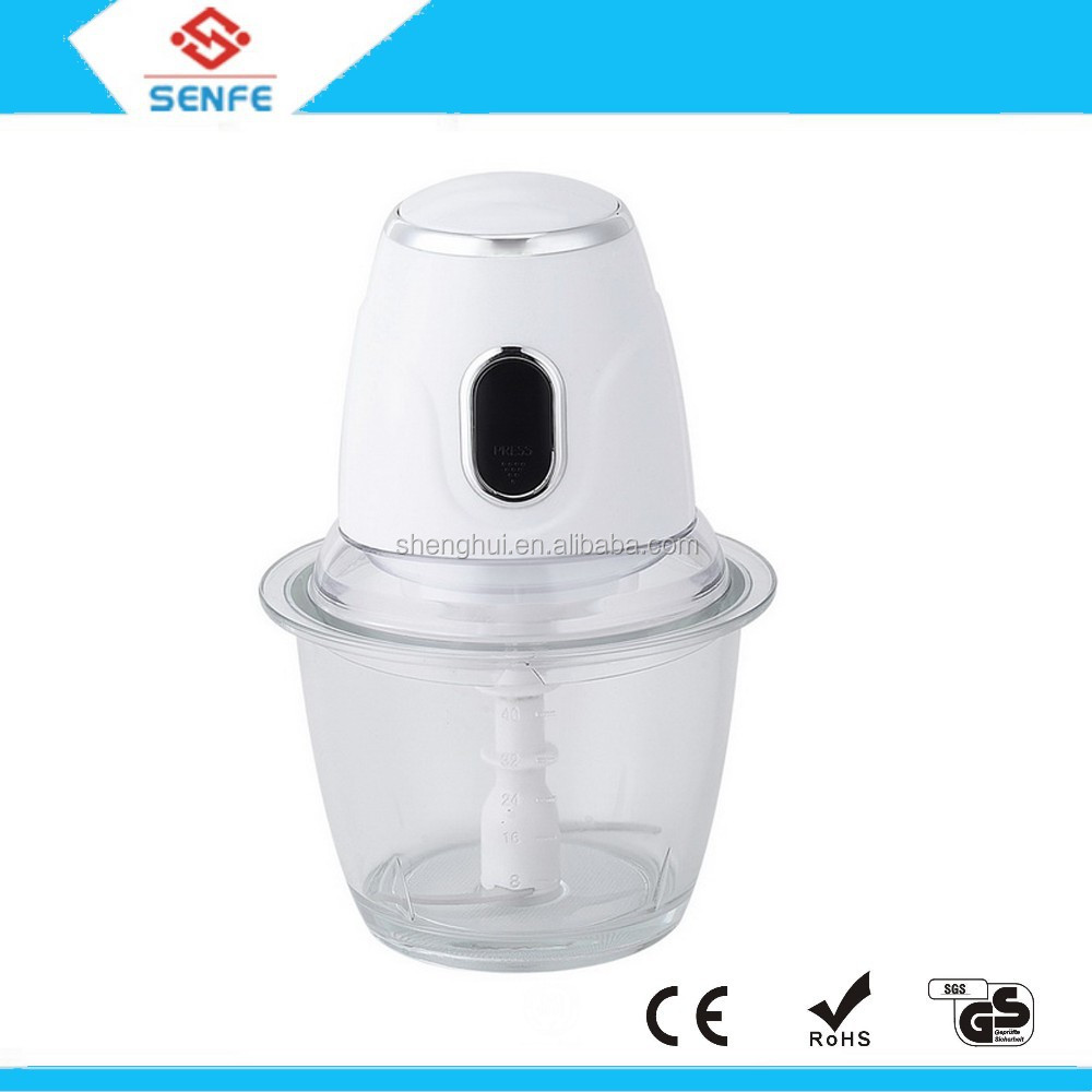2015 new design electric mini nut spice vegetable meat chopper with glass bowl