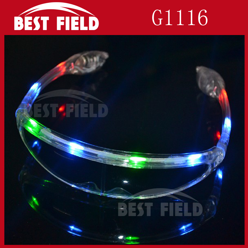 3 pcs color 8pcslight LED shades glasses