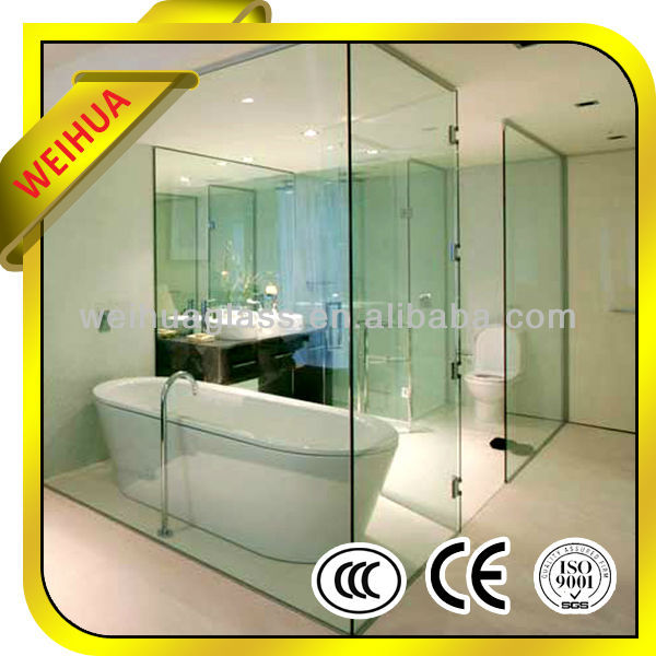 6mm clear bathtub tempered glass bath screen/bathtub shower door