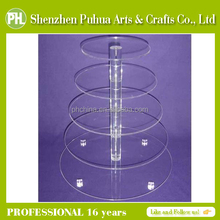 Hot-selling 5-Tier Clear Acrylic Stacked Party Cupcake Stand Dessert Tower Stand