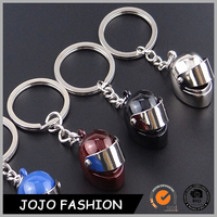 Stock Motorcycle Helmet Shaped Metal Key chain Keychain Key Ring Key Holder