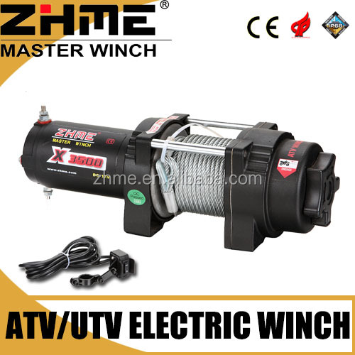 small ATV 3500lbs electric capstan winch