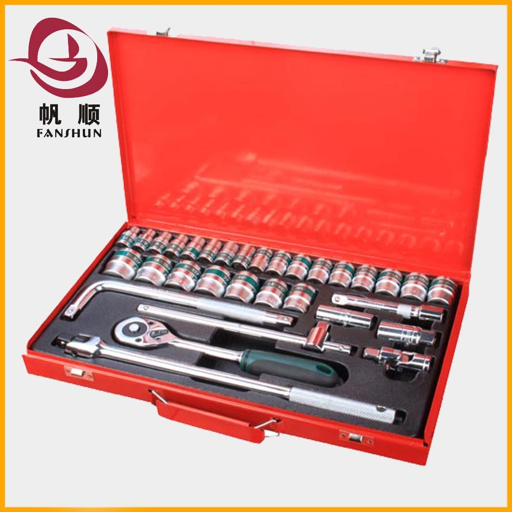 "32pcs 1/2"" Hand Tools Socket Wrench Combined box spanner socket set"