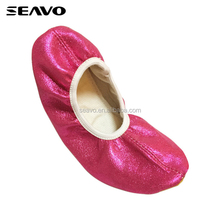 SEAVO SS18 Shiny fuschia pu upper light weight tpr sole design foldable women flat ballerina shoes