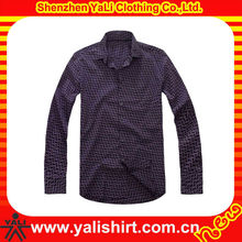 Custom fashion blank stripe cotton long sleeve high quality slim fit pictures of formal shirts men