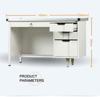 NEW PRODUCT cheap metal computer desk/modern stainless steel office desk