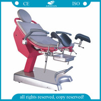 AG-S105A CE&ISO red adjustable gynecological chair