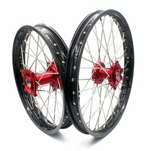"17x2.5"" 17x2.15"" Complete Alloy CNC Motorcycle Rims for KTM SXF250 300 500 Supermoto"