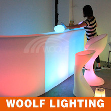 remote control colorful led home wine bar design