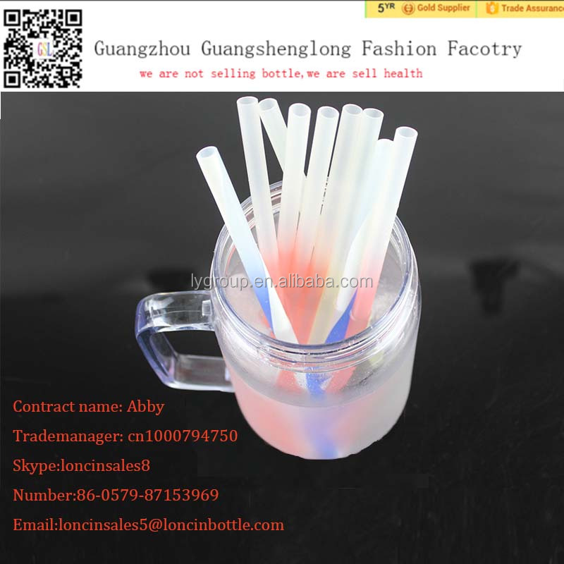 "wholesale plastic dringking straws,Creative Color-changing Heavyweight Straw, Home Essentials PP straw ""200mm""length"