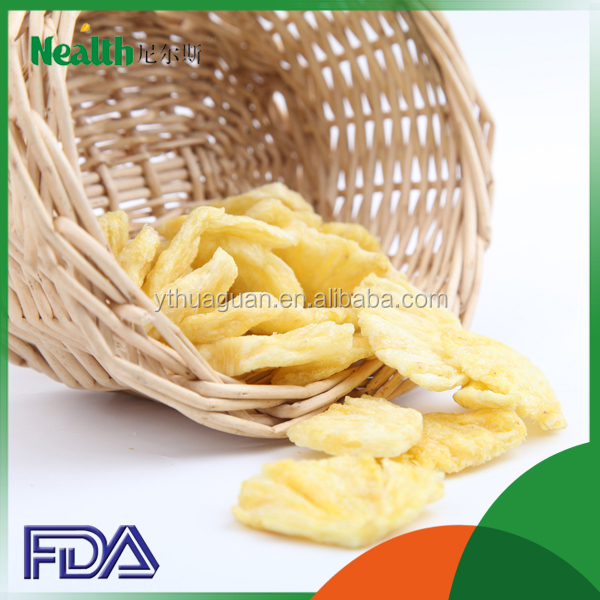 Bulk packing Pineapple chips dried fruit factory