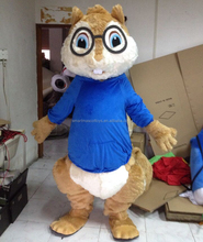 high quality adult mascot costume the chipmunks theodore and simon