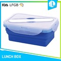 Custom silicone material rectangular food container