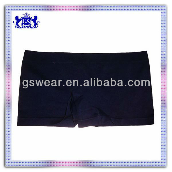 2014 ladies fashion nylon black boxer briefs underwear