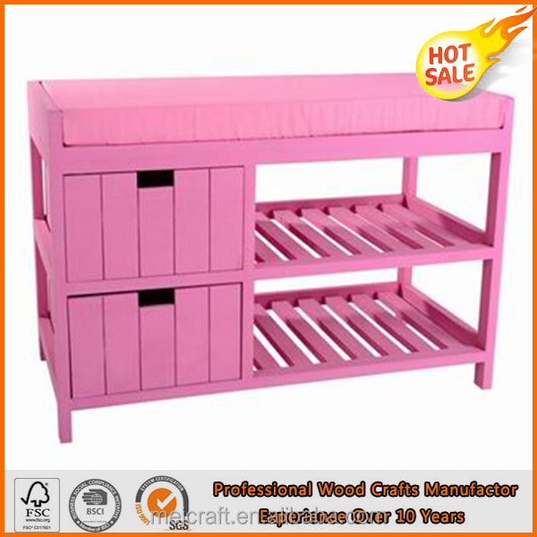 Factory Direct Sales Shoe Storage Bench with Two Seats