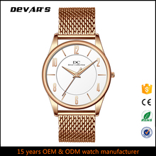 Alibaba wholesale oem gold plated men stainless steel back watch