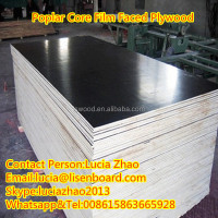 18mm phenolic resin coated shuttering plywood , Poplar formwork board for construction