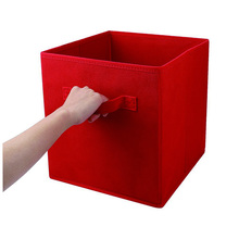 colorful polyester non woven fabirc foldable box storage toy collapsible storage box