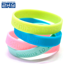 Factory directly customized national flag country flag printed logo silicone wristband silicone bracelet colorful rubber band