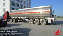 aluminum tanker trailers with aluminum chassis, BPW axle air suspension, CIVACON valves