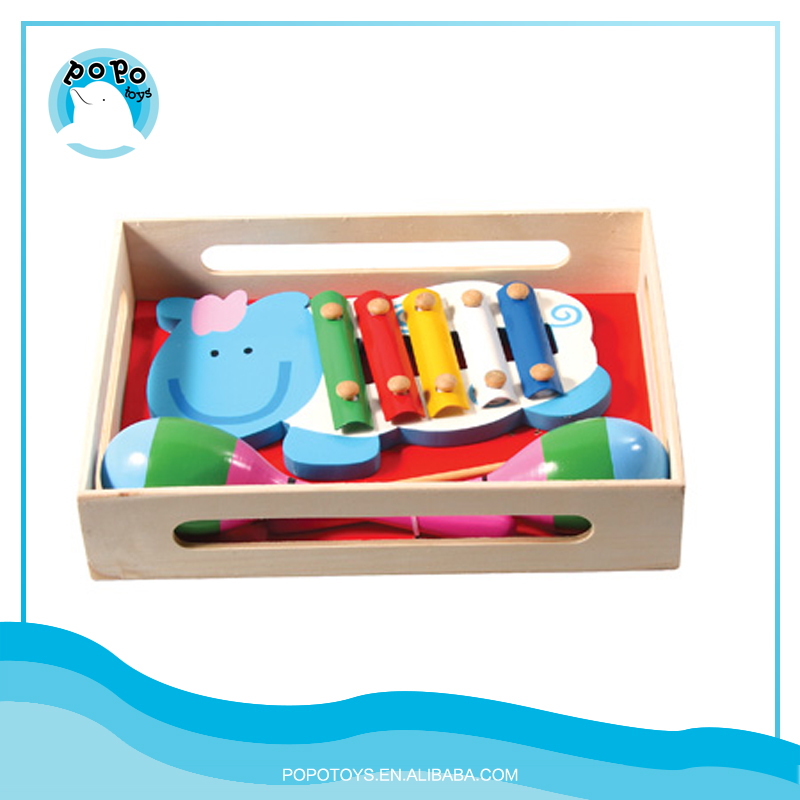 Wooden Musical 8 Stone Xylophone Toys Wooden Music Set For Kids