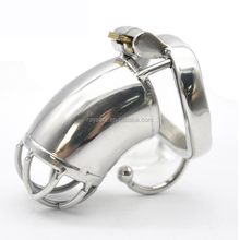 Stainless Steel Male Chastity Large Cage with Base Arc Cock Ring Penis Ring Devices Adult sex toys C272