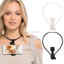 2017 Hot Selling Product <strong>Point</strong> Of View Easy to Take Photo Neckband Phone Holder For Cell Phone Iphone Samsung