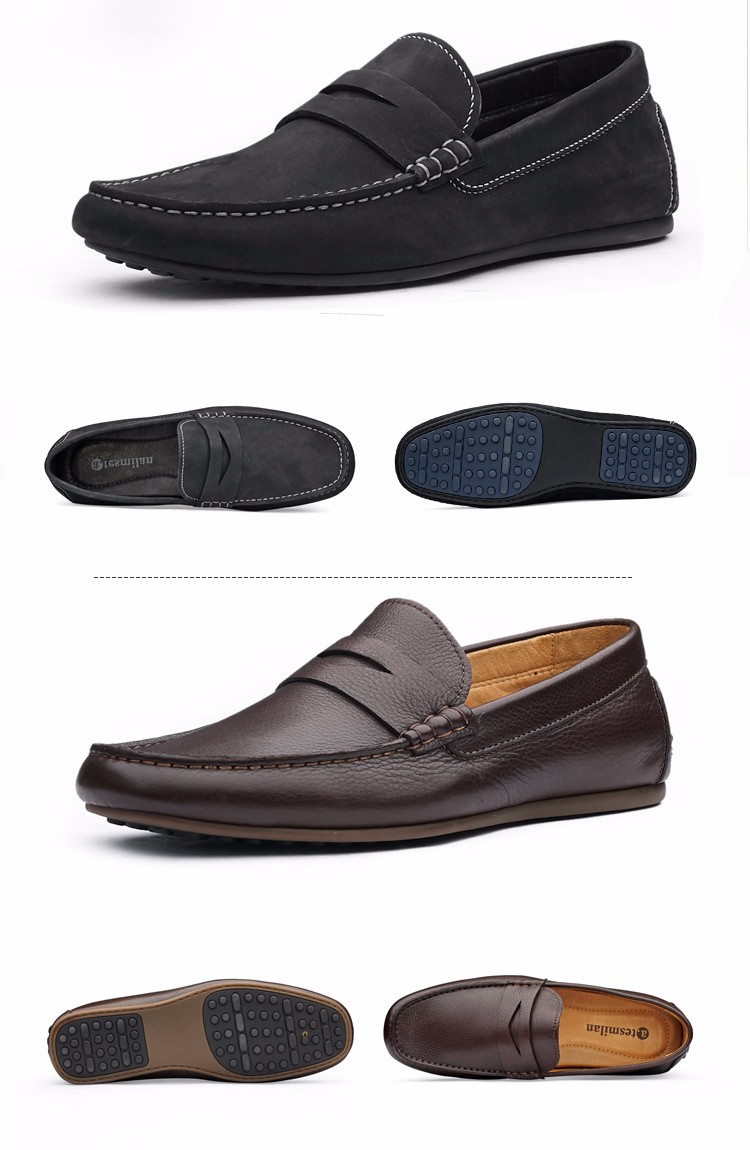 Latest Wholesale Oem Brand Leather Man Shoe Flat Moccasin Casual Loafer Shoes For Men - Buy ...