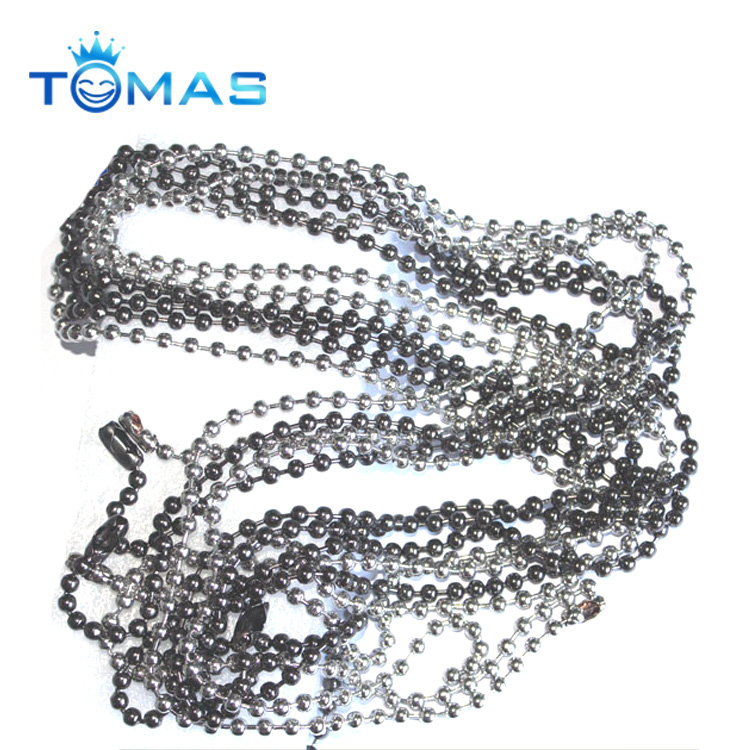 Guangzhou custom brushed antique brass color ball chain