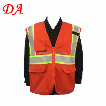 cotton polyester high visibility flame retardant safety vest