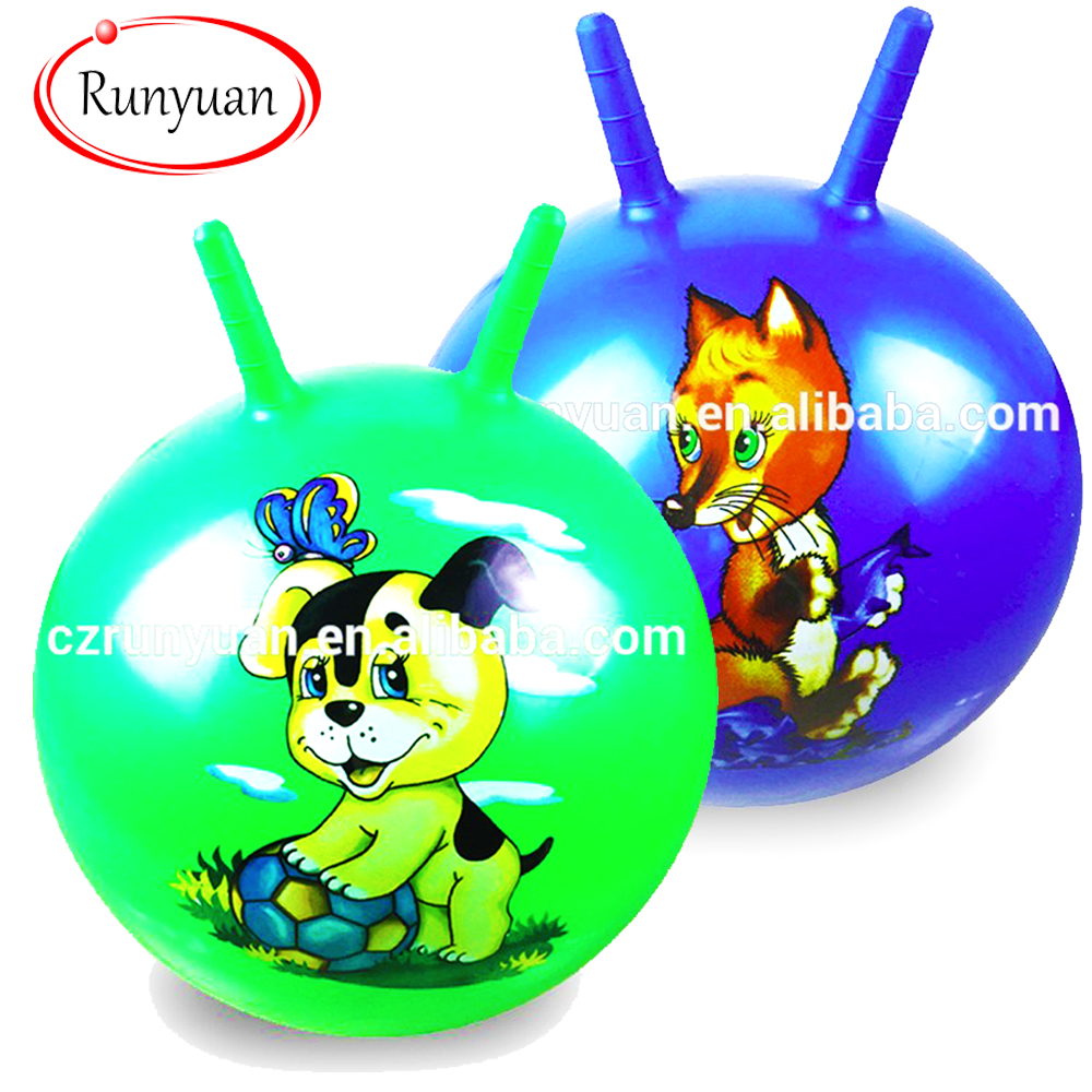 RUNYUAN Animal Hopper Ball, Kid's Ride-on Toy, Bouncy Hopping Ball with Handle