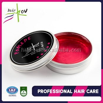 Custom logo strong hold water based wax form hair pomade for men