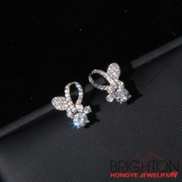 Platinum Plated Brass Earrings 2-6582-5280-4.2
