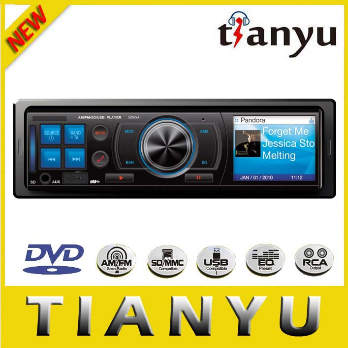 Classic 1 din car radio CD/DVD/VCD/MP4/MP3 player with USB adapter