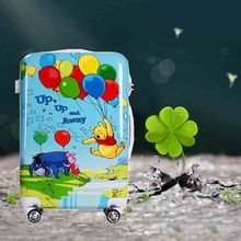 cheap classic long children travel hello kitty trolley abs luggage bags for school