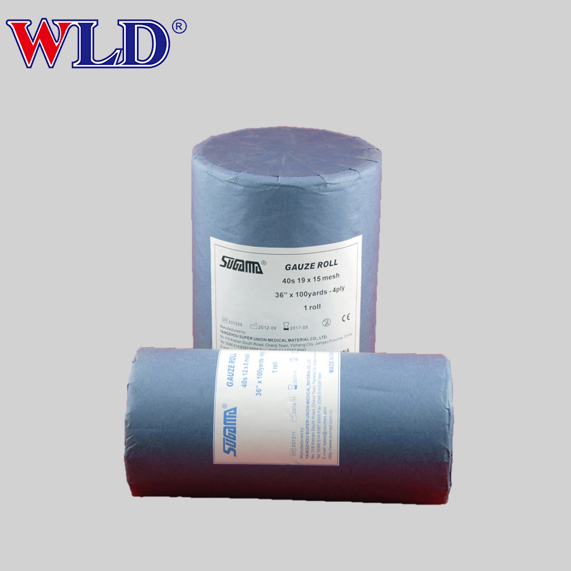 Cheap price different types jumbo absorbent sterile gauze roll