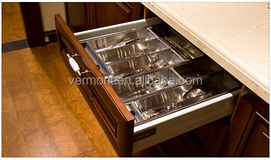 2018 American Standard Solid Wood Kitchen Cabinet with multi function storage basket VT-SK-001