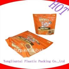 side seal food grade packaging material bag custom logo design printing for biscuit