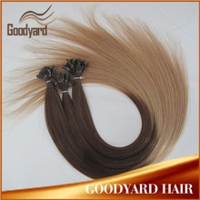 Hotsale Pre bonded human hair extension ombre U Tip hair