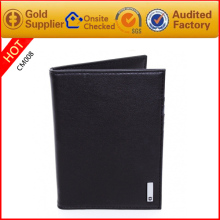 Fashionable leather passport holder passport holder case men's passport holder